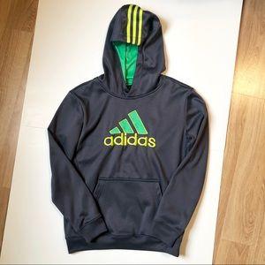 Adidas Boys Hoodie Gray M 10/12